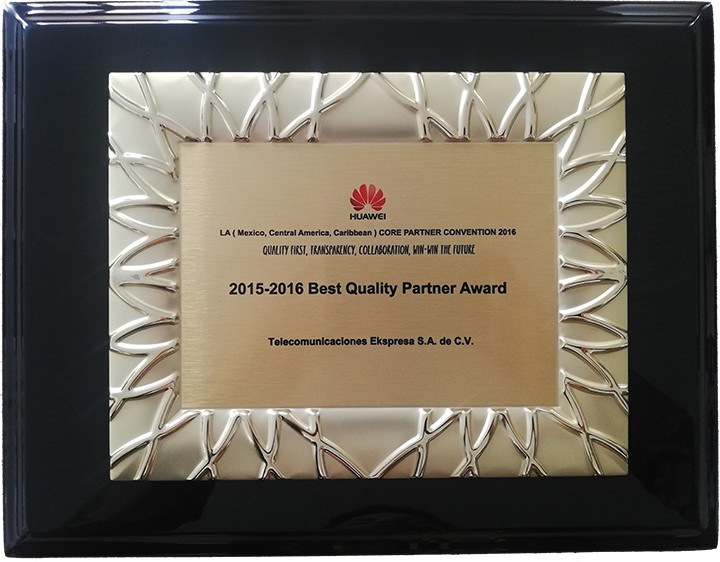 2015-2016 Best Quality Partner Award