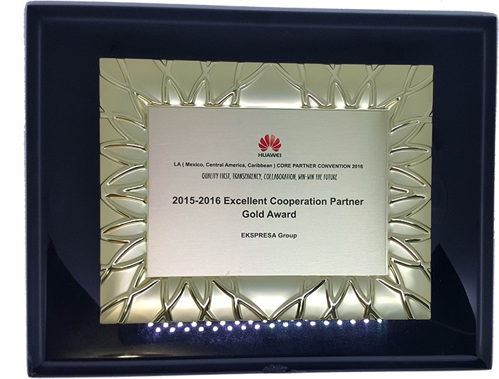 2015-2016 Excellent Cooperation Partner Gold Award