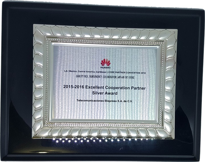 2015-2016 Excellent Cooperation Partner Silver Award
