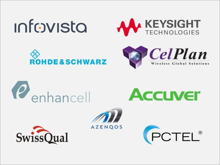 Infovista, Keysight, Rohde & Schwarz, Celplan, Enhancell, Accuver, Azenqos, SwissQual, PCTEL