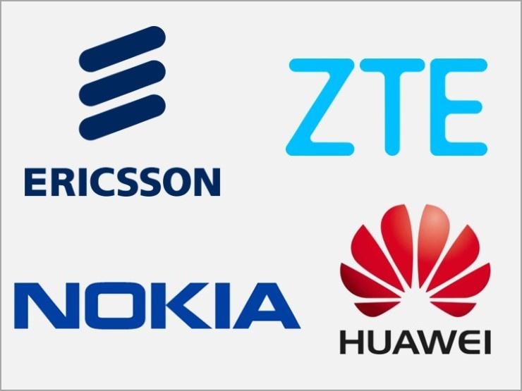 Ericsson, ZTE, Nokia, Huawei